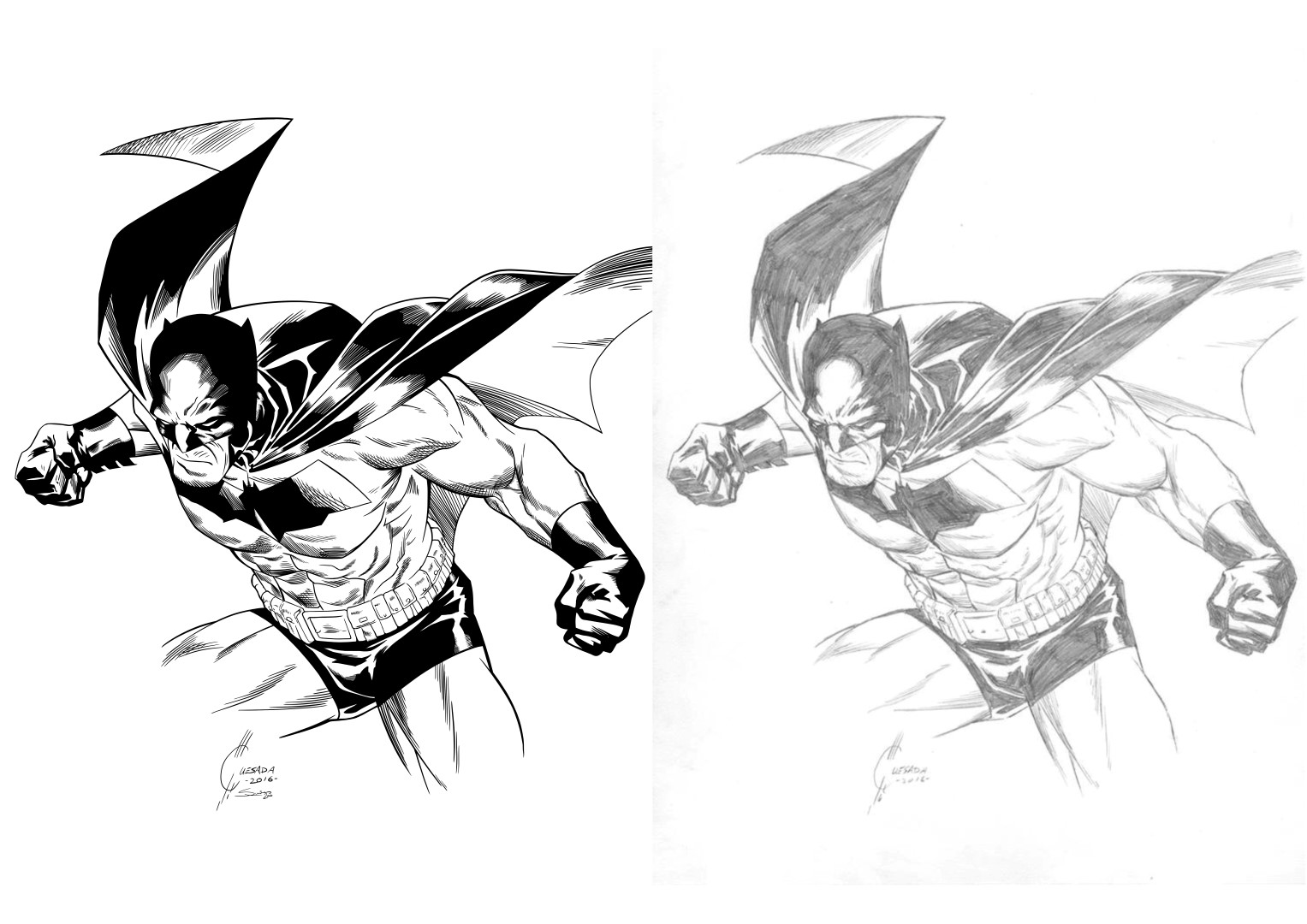 Inks over Joe Quesada Batman