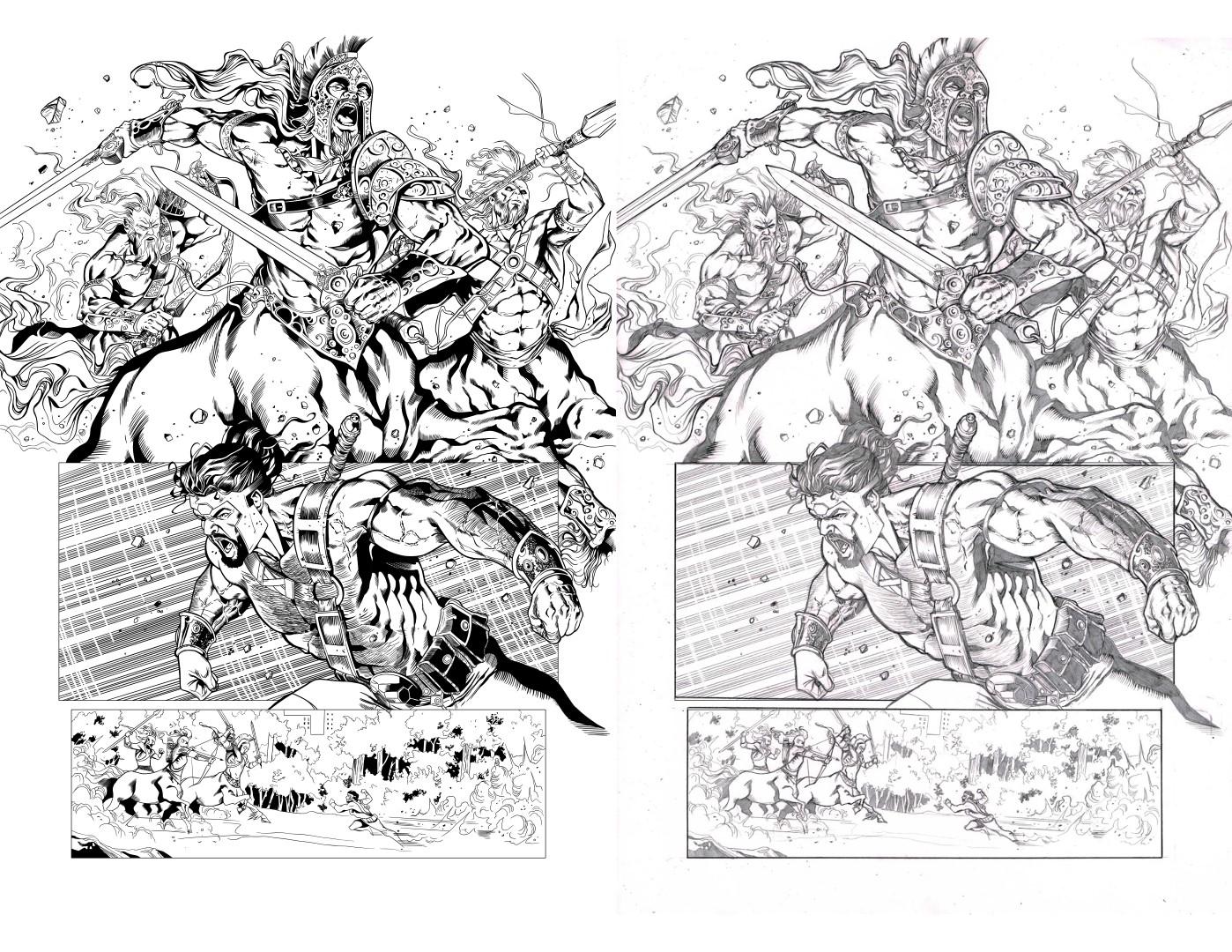 Inks over Sergio Davila Hercules